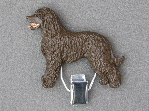 Irish Water Spaniel - Number Card Clip