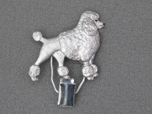 Poodle Classic - Number Card Clip