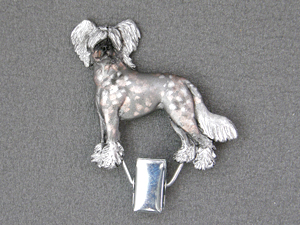 Chinese Crested Dog - Number Card Clip