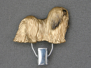 Lhasa Apso - Number Card Clip
