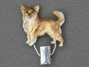 Chihuahua Longhaired - Number Card Clip