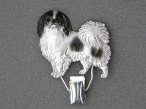 Japanese Chin - Number Card Clip