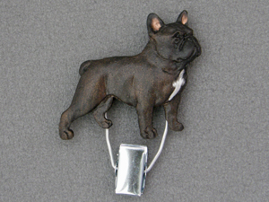 French Bulldog - Number Card Clip