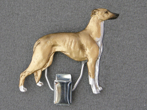 Greyhound - Number Card Clip