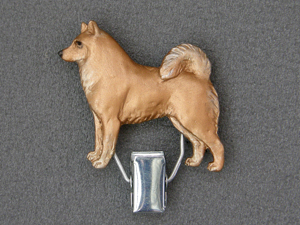 Finnish Spitz - Number Card Clip