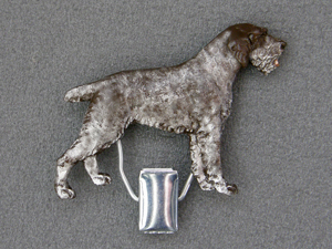 German Wirehaired Pointer - Number Card Clip