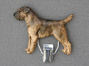 Border Terrier - Number Card Clip