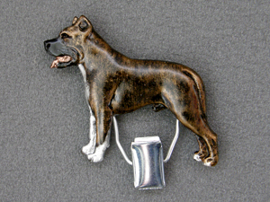 American Staffordshire Terrier - Number Card Clip
