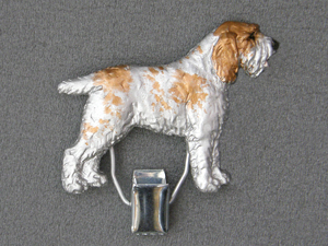 Spinone Italiano Number Card Clip Milan Orm Dog Art