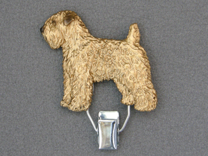 Soft Coated Wheaten Terrier - Number Card Clip