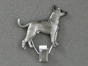 Inca Hairless Dog - Number Card Clip