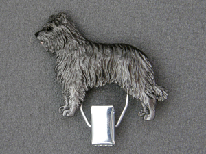 Pyrenean Shepherd Dog - Number Card Clip