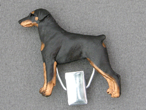 Dobermann - Number Card Clip