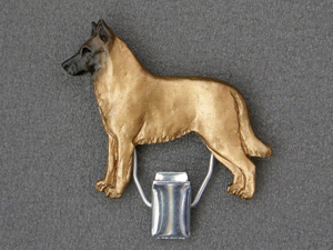 Belgian Malinois - Number Card Clip