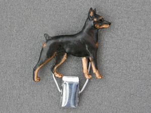 Miniature Pinscher Number Card Clip Milan Orm Dog Art