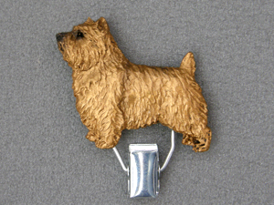 Norwich terrier - Number Card Clip
