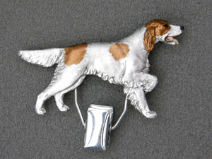 Irish Red & White Setter - Number Card Clip