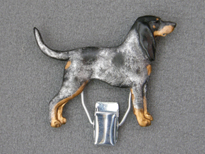 Bluetick Coonhound - Number Card Clip