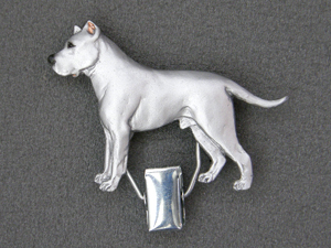 Dogo Argentino - Number Card Clip