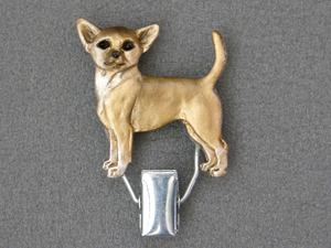 Chihuahua Smooth - Number Card Clip