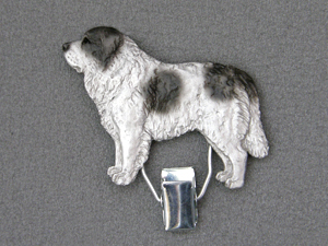 Pyrenean Mastiff - Number Card Clip