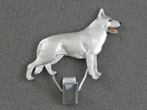 White Swiss Shepherd - Number Card Clip