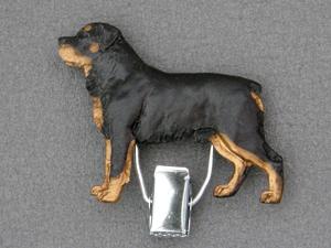 Rottweiler Number Card Clip Milan Orm Dog Art Shop