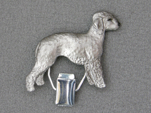 Bedlington Terrier - Number Card Clip
