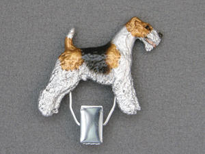 Fox Terrier Wire - Number Card Clip