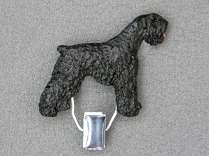 Black Russian Terrier - Number Card Clip