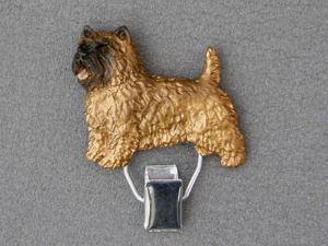 Cairn Terrier - Number Card Clip