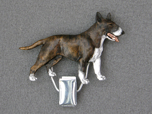 Bullterrier Number Card Clip Milan Orm Dog Art Shop