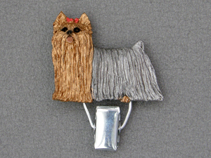 Yorkshire Terrier - Number Card Clip