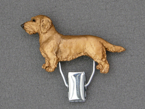 Dachshund Wire - Number Card Clip