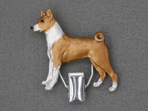 Basenji Number Card Clip Milan Orm Dog Art Shop