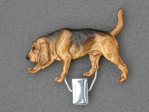 Bloodhound Number Card Clip Milan Orm Dog Art Shop