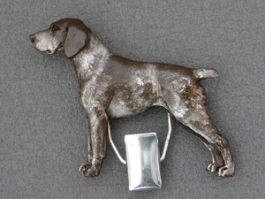 German Shorthaired Pointer - Number Card Clip