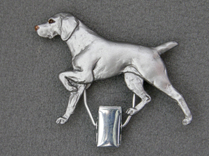 Weimaraner Number Card Clip Milan Orm Dog Art Shop