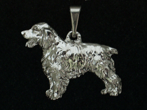 English Springer Spaniel - Pendant Figure Silver