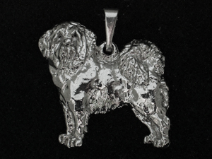 Tibetan Mastiff Pendant Figure Silver Milan Orm Dog