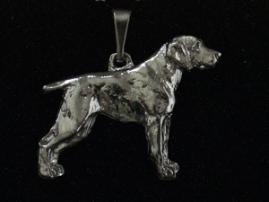 Viszla Pendant Figure Silver Milan Orm Dog Art Shop