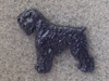 Black Russian Terrier - Pin Figure