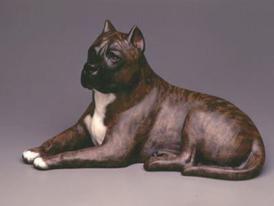 American Staffordshire Terrier - Sandstone Large Statue