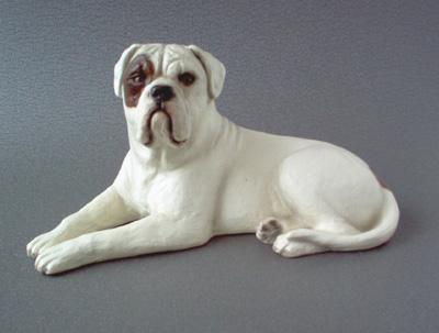 American Bulldog Sandstone Large Statue Milan Orm Dog