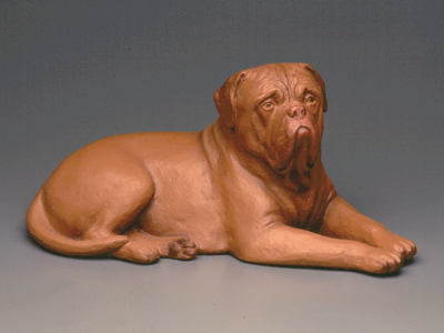 Dogue de Bordeaux - Sandstone Large Statue