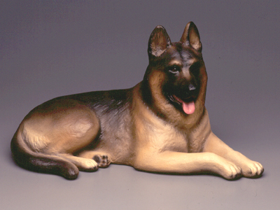 German Shepherd - Sandstone Large Statue