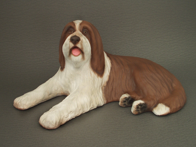 Bearded Collie - Sandstone Large Statue