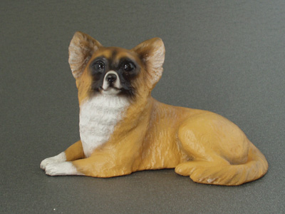 Chihuahua Longhaired - Sandstone Small Statue