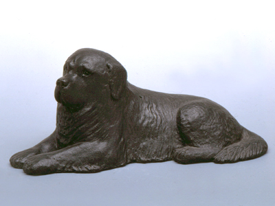 Newfoundland Sandstone Small Statue Milan Orm Dog Art
