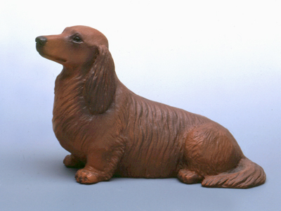 Dachshund longhaired - Sandstone Small Statue